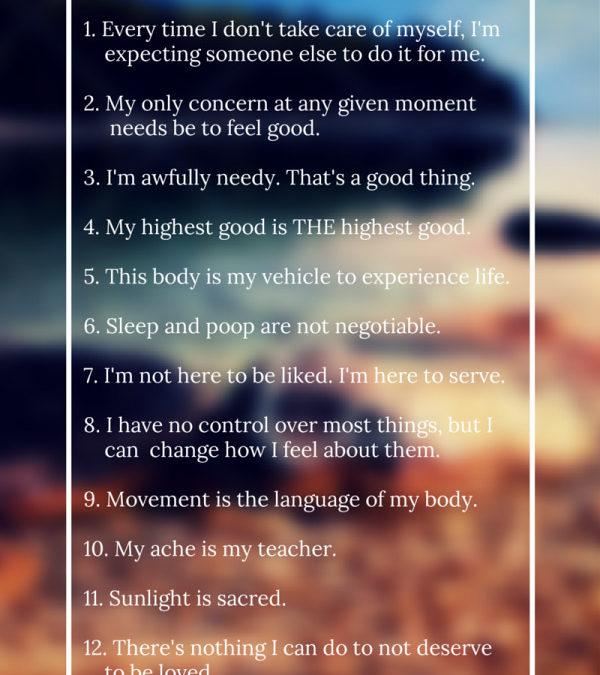 A Self-Care Manifesto